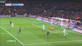 FC Barcelona vs Real Madrid 2-1 Goal Luis Suárez La Liga