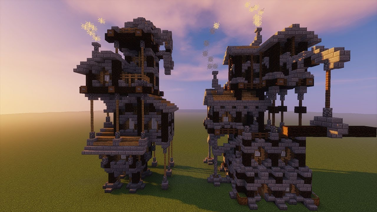 Medieval/Steampunk Crane and Mill House Schematics (Download)