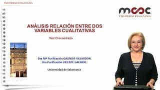 Análisis de la relación entre dos variables cualitativas: Test Chi cuadrado. Módulo 4