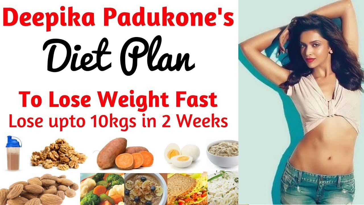 deepika padukone diet plan for weight loss हिंदी में| how to