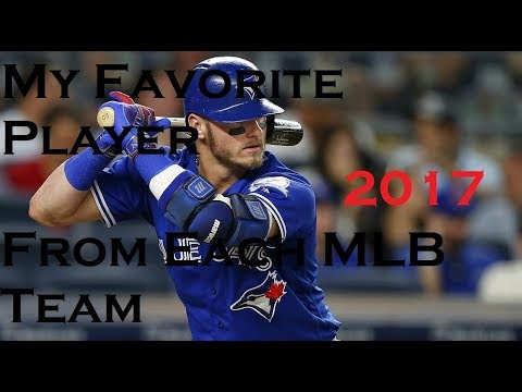 My Favorite Player from Each MLB Team (2017)