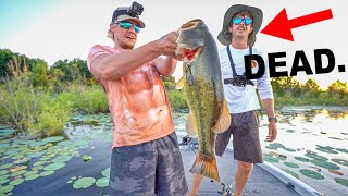 Catching 50 Bass all on Frogs CHALLENGE!!