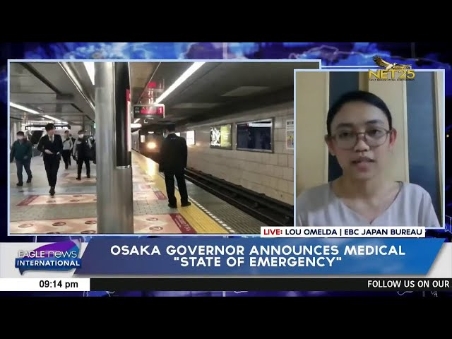"""Osaka governor announces medical """"state of emergency"""""""