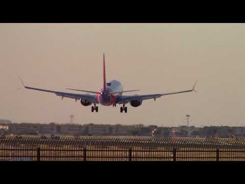 Dallas Love Field Plane Take Off and Landings 1080P Dallas Texas Southwest Airlines&More