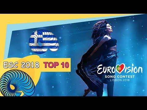 Eurovision 2018 - My Top 10 So Far [New: GREECE]