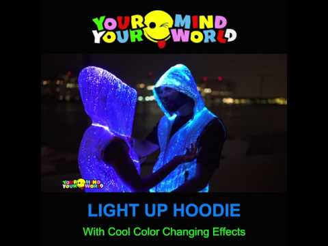 COLOR CHANGING LIGHT UP HOODIE For Ravers And Burning Man