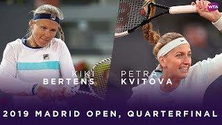 Kiki Bertens naar halve finales Madrid na winst op Kvitova