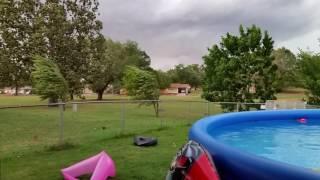 High winds in base housing on Little Rock AFB, Arkansas