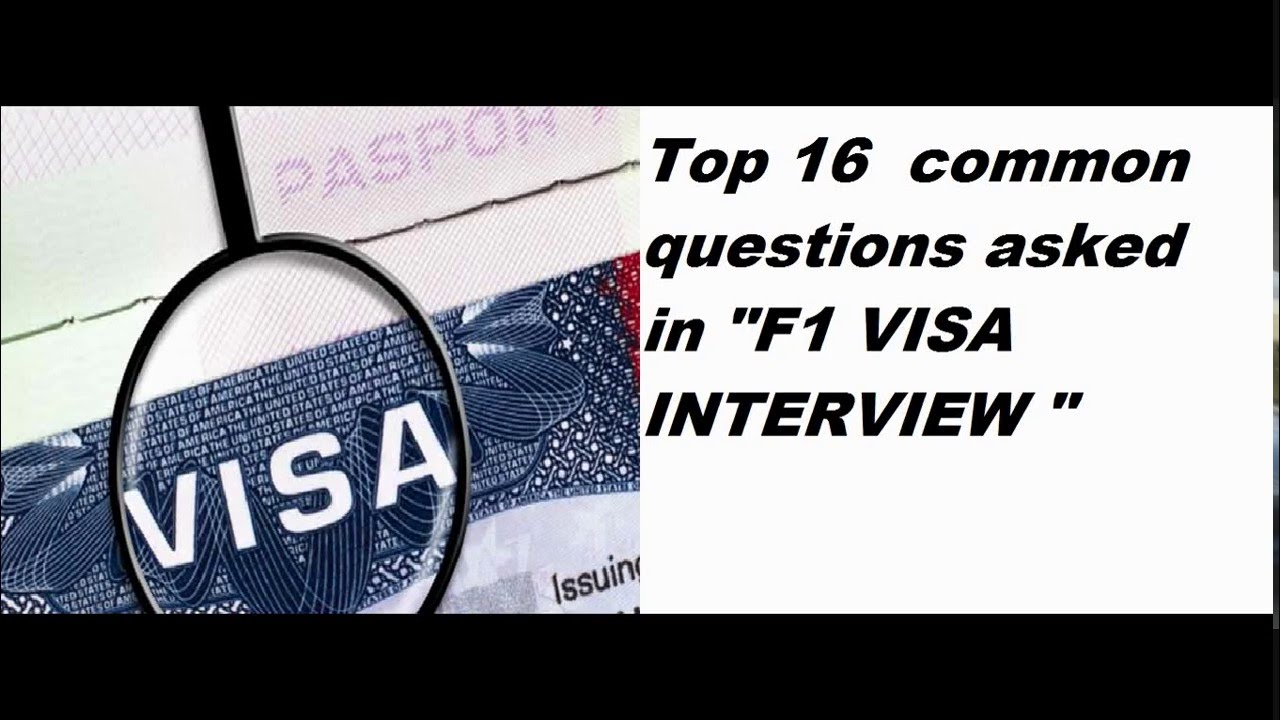 F1 visa interview questions and answers usa youtube.