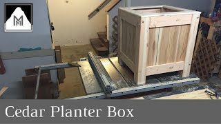 21: Cedar Planter Box