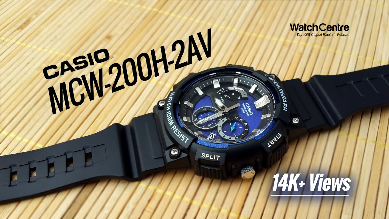 8b87d90d616 Casio MCW-200H-2AV Men s Analog Sports Chronograph Watch - YouTube