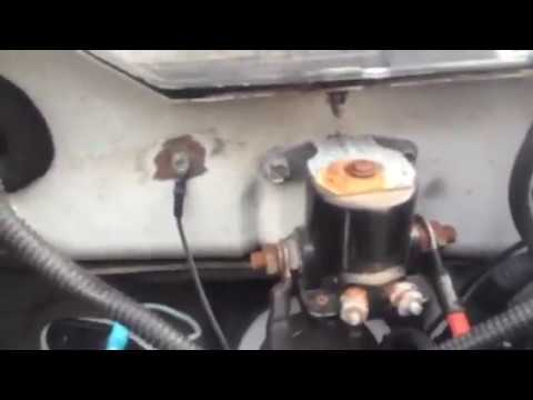 Meyer snow plow e-58-h pump motor solenoid replacement, fix - YouTube