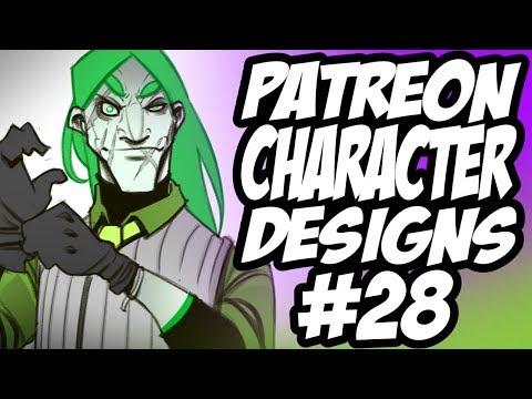 Patreon Character Designs #28 - Joker Redesign / Half Witch Swordswoman