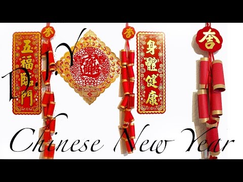 Easy Diy Chinese New Year Paper Firecrackers Wall Decor