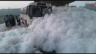 Not just Bengaluru lakes: Watch toxic froth from Hyderabad