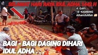 BAGI - BAGI DAGING DIHARI IDUL ADHA MASJID JAMI BAITURRAHMAN || SELAMAT HARI RAYA IDUL ADHA 1442 H