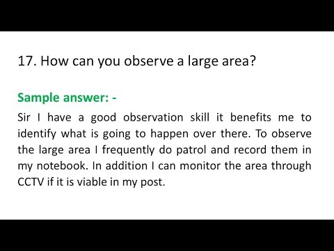 20 Specific Security Officer And Guard Interview Question