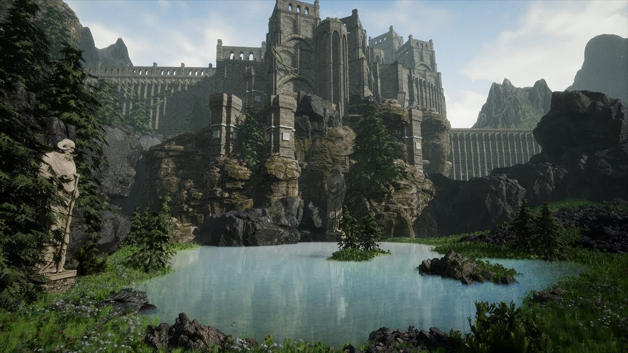 Creating a Castle Scene in Unreal Engine 4 (Speed Level Design) - YouTube