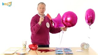 how to tie a foil balloon and funky badges bmtv 42