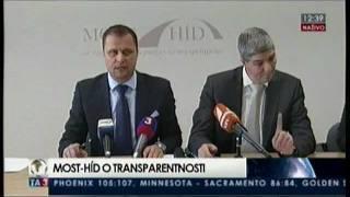 TK MOST-HÍD k projektu Transparentné Slovensko