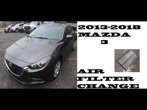 How to change replace Air filter in Mazda 3 2013-2018
