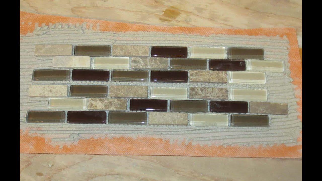 - Tip For Making A Glass Tile Border - YouTube