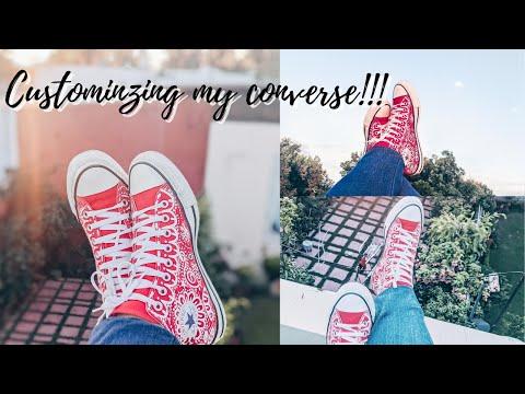 DIY shoe painting tutorial | Customizing my Converse