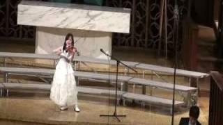 張韶涵-隱形的翅膀Jocelyn singing and violin with 海盟合唱團