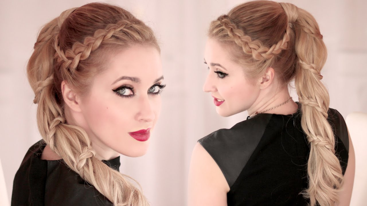 Spiral Braid Tutorial High Ponytail Hairstyle For Long Hair