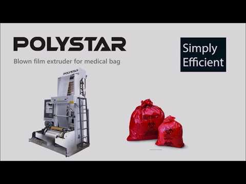 Blown film extruder for medical bag