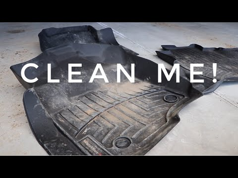 Step up your rubber floor mat cleaning! How I clean Weather Techs -- without a hose