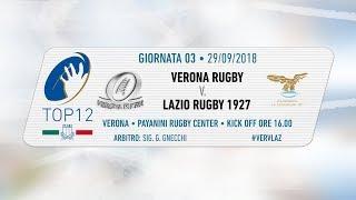 TOP12 2018/19, Giornata 3 - Verona Rugby v Lazio Rugby 1927