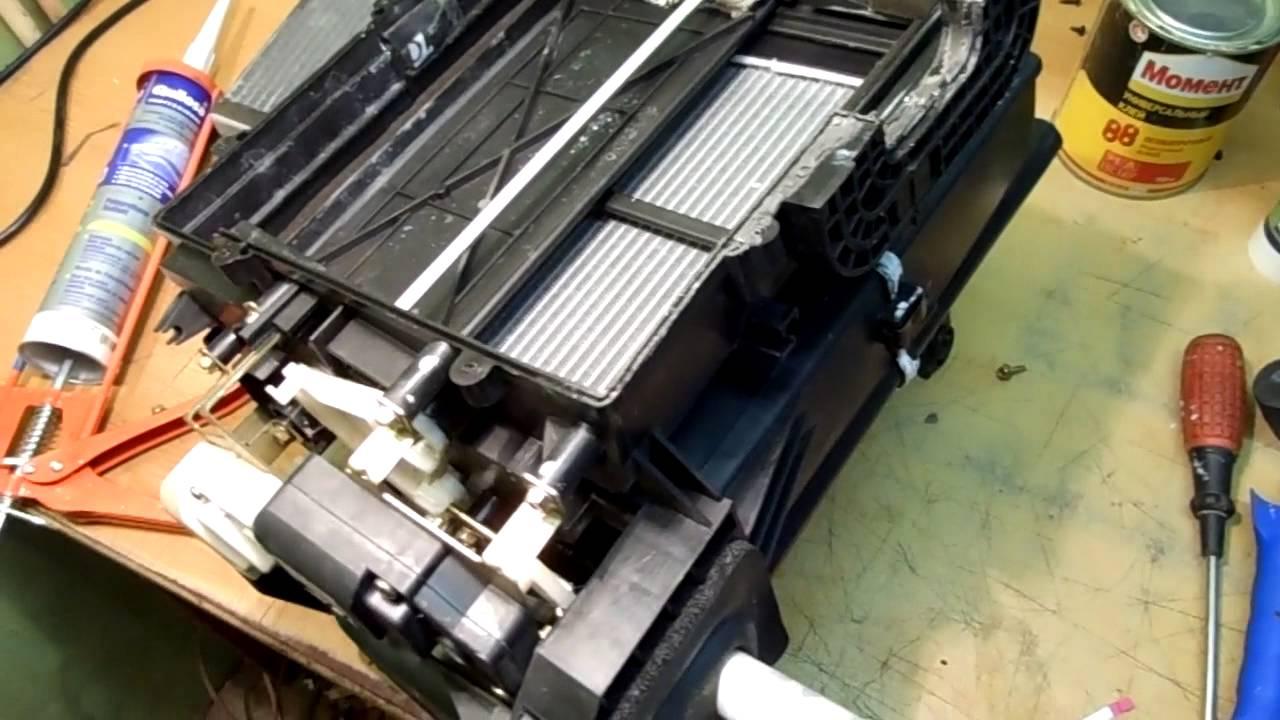 Замена радиатора печки на чери фора своими руками