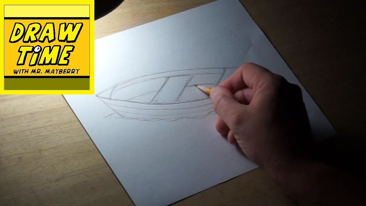 How to draw a fishing boat youtube for How to draw a fishing boat