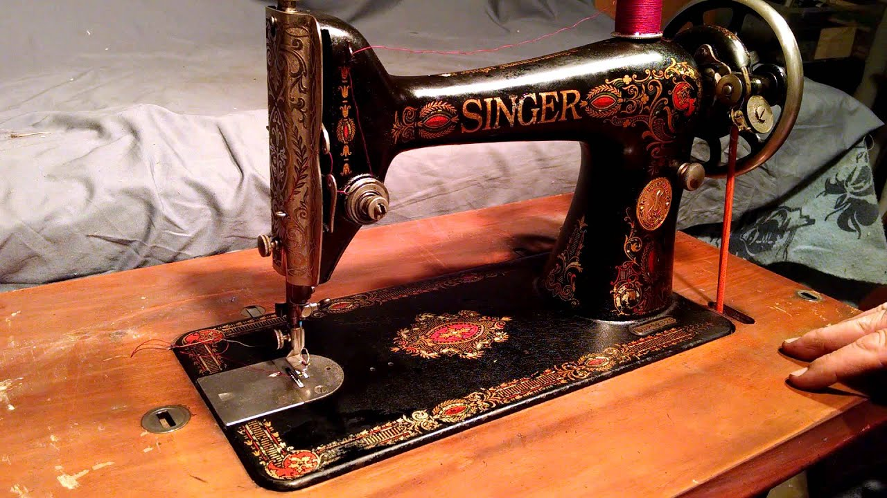 Redhead singer sewing machine