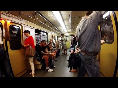Ride in the Metro of Budapest, Hungary - 1080p 60fps