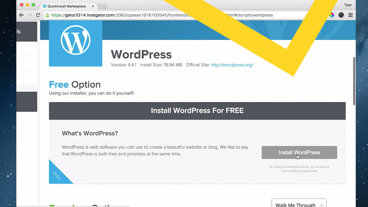 3 - Install WordPress With Cpanel - 2016
