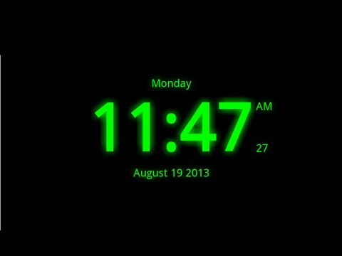 Digital Clock Live Wallpaper 7