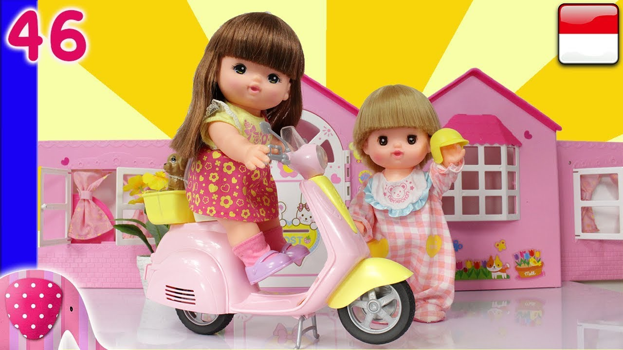 Mainan Boneka Eps 46 Sekuter Barbie Unboxing Goduplo Tv Youtube