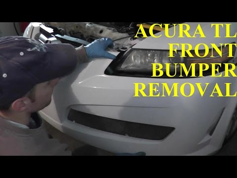 Acura TL Front Bumper Removal & Replacement