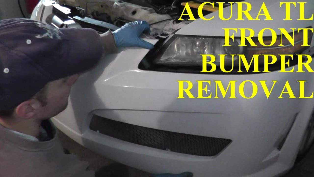 acura tl front bumper removal replacement youtube rh youtube com Acura TL Headlight Bulb Replacement Acura TL Aftermarket Headlights