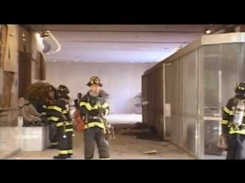 Signs of an explosion at the WTC North Tower lobby
