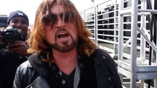 Billy Ray Cyrus Performed at NASCAR & Gives HB Surf Scene Magazine A Shout-Out @ Fontana