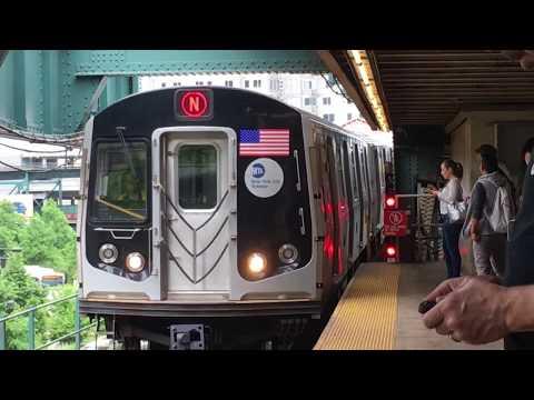BMT Astoria Line: R160 (N) Trains Ends/Begins Service @ Queensboro Plaza