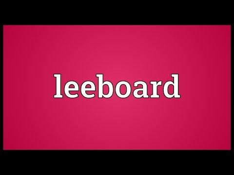 Leeboard Meaning