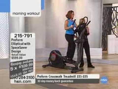 Proform Elliptical With Spacesaver Design Item 215 791 Youtube