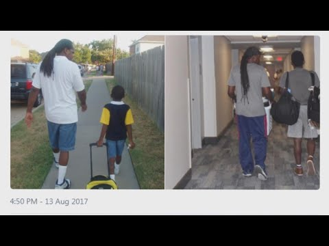Sweet Photos of Dad Walking Son to Kindergarten and College Get Widely Shared