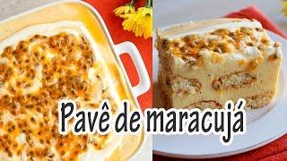 Pavê de Maracujá com uma Mistura de Mousse e Cheesecake