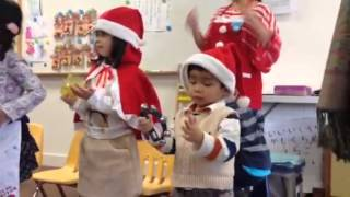 Jingle bell song at the Japanese school