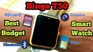 BINGO T50 SMARTWATCH ONLY RS 1000 - unboxing and review